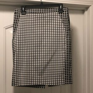 The Limited Black and White Pattern Skirt
